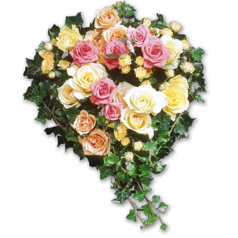 Marseille Funeral Arrangement Coeur De Roses