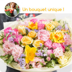 MARSEILLE FUNÉRAL FLOWERS - FLORIST COLORED BOUQUET