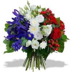MARSEILLE FUNÉRAL FLOWERS - BLEU BLANC ROUGE