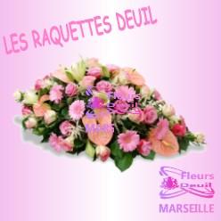 RAQUETTE DE FLEURS DEUIL LYON